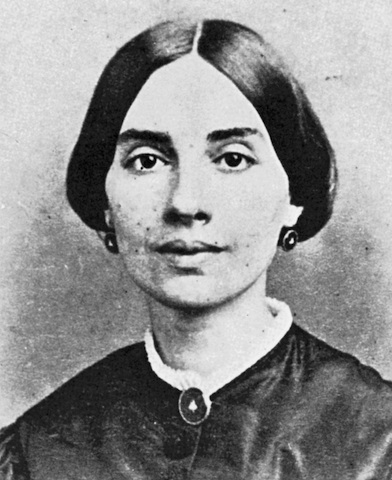 Photo reputedly of Emily Dickinson in 1860